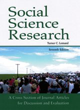 Social Science Research-7th Ed A Cross Section of Journal Articles for Discussion and Evaluation 7th 2012 (Revised) edition cover