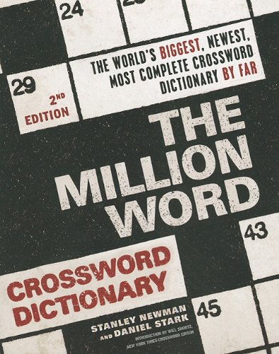 Million Word Crossword Dictionary, 2nd Edition  2nd (Revised) 9780061689017 Front Cover