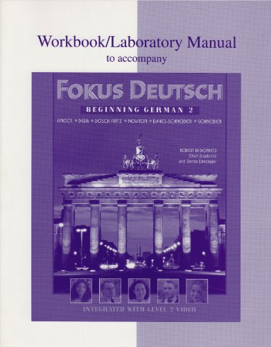 Workbook/Lab Manual to accompany Fokus Deutsch Beginning German 2  2000 9780070276017 Front Cover