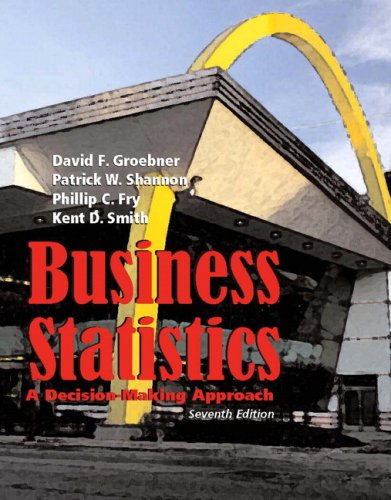 Business Statistics A Decision Making Approach 7th 2008 edition cover