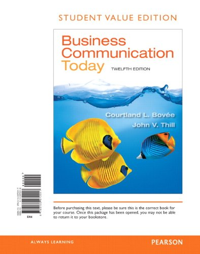 Business Communication Today: Student Value Edition  2013 edition cover