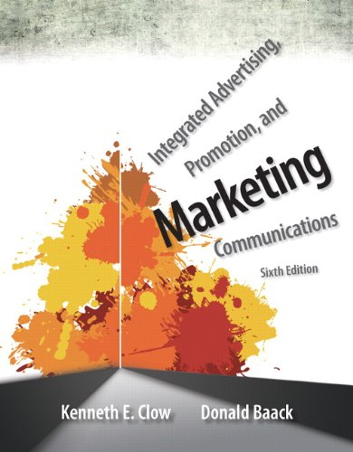 Integrated Advertising, Promotion, and Marketing Communications  6th 2014 edition cover