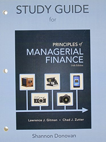 Prinicples of Managerial Finance:   2014 edition cover