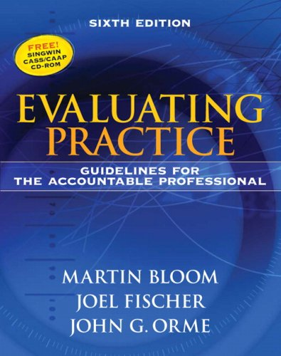 Evaluating Practice Guidelines for the Accountable Professional 6th 2009 edition cover