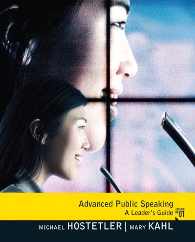 Advanced Public Speaking A Leader's Guide  2011 edition cover