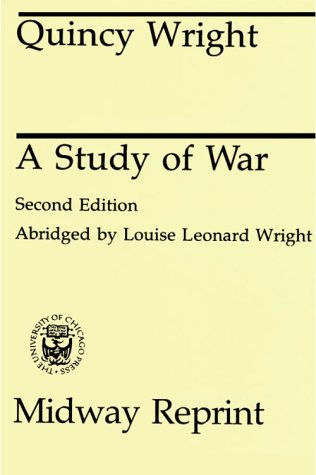 Study of War  2nd (Abridged) 9780226910017 Front Cover