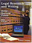 Legal Research and Writing  5th 1999 (Revised) edition cover