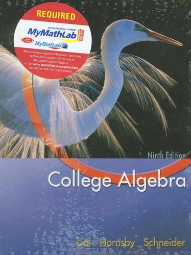 College Algebra  9th 2005 9780321228017 Front Cover