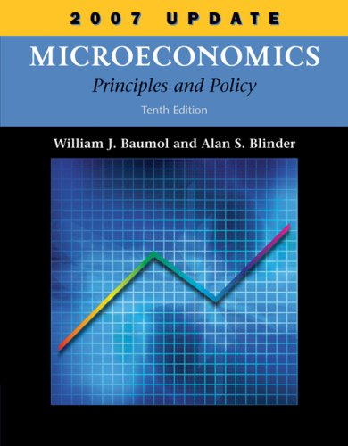 Microeconomics 2007 Principles and Policy 10th 2008 (Revised) edition cover
