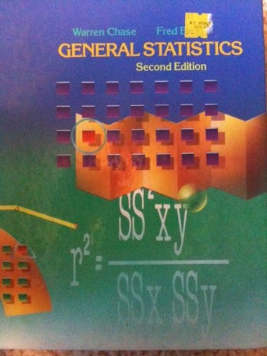 General Statistics  2nd 1992 edition cover