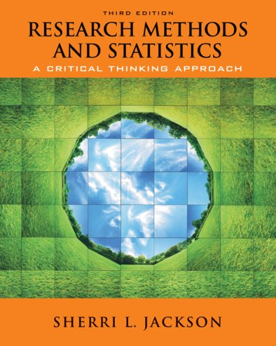 Research Methods and Statistics A Critical Thinking Approach 3rd 2009 edition cover