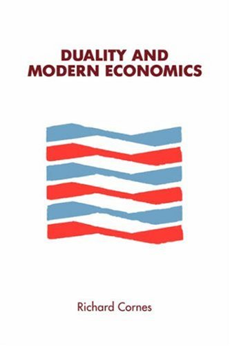 Duality and Modern Economics  N/A 9780521336017 Front Cover