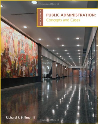 Public Administration Concepts and Cases 9th 2010 9780618993017 Front Cover