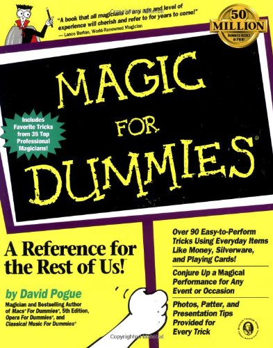 Magic for Dummies   1998 edition cover