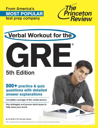 Verbal Workout for the GRE, 5th Edition   2013 edition cover