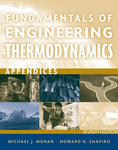 Fundamentals of Engineering Thermodynamics - Appendices  7th 2012 edition cover