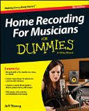 Home Recording for Musicians for Dummies�  5th 2014 edition cover