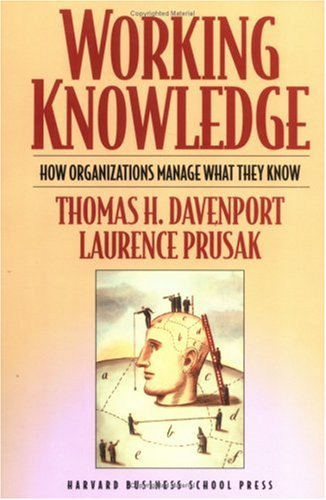 Working Knowledge How Organizations Manage What They Know 2nd 2000 9781578513017 Front Cover