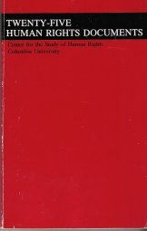 Twenty-Five Human Rights Documents  1994 (Revised) edition cover