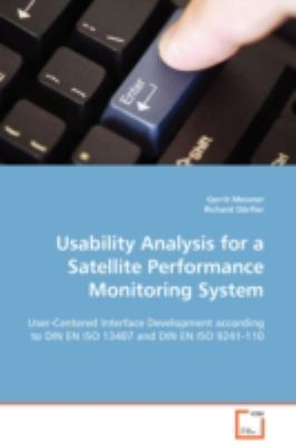 Usability Analysis for a Satellite Performance Monitoring System:   2008 edition cover