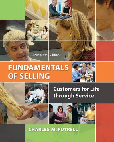 Fundamentals of Selling Customers for Life Through Service 13th 2014 9780077861018 Front Cover