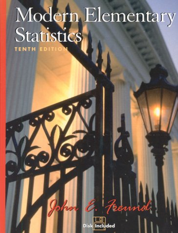 Modern Elementary Statistics  10th 2001 edition cover