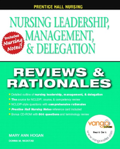 Nursing Leadership and Management Reviews and Rationales  2009 edition cover