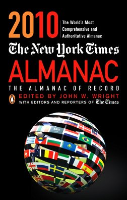 New York Times Almanac 2010 The Almanac of Record Revised  edition cover