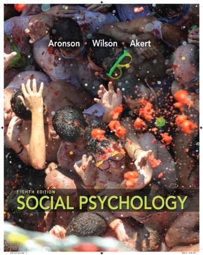 Social Psychology  8th 2013 edition cover