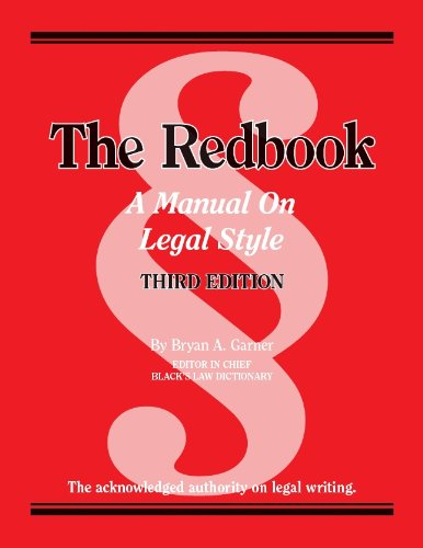 Redbook A Manual on Legal Style 3rd 2013 (Revised) edition cover