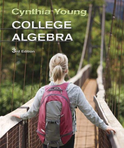 College Algebra  3rd 2013 edition cover