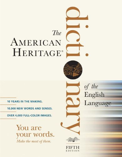 American Heritage Dictionary of the English Language  5th 2011 (Revised) edition cover