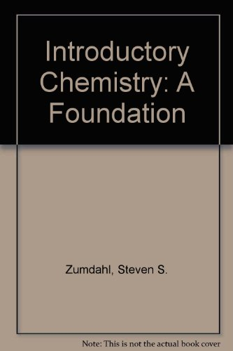 Introductory Chemistry : A Foundation and Mathematics Review CD-ROM: A Foundation 4th 2000 9780618181018 Front Cover