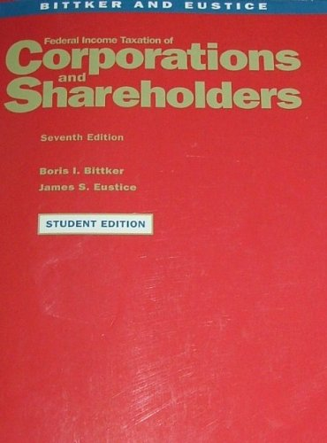 Federal Income Taxation of Corporation and Shareholders   2000 edition cover
