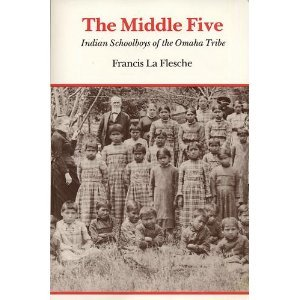 Middle Five Indian Schoolboys of the Omaha Tribe Reprint edition cover
