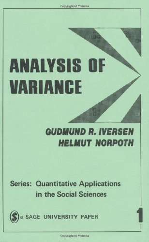 Analysis of Variance  2nd 1987 edition cover