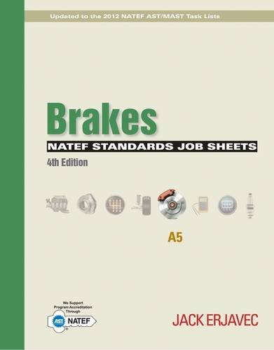 NATEF Standards Job Sheets Area A5  4th 2015 edition cover
