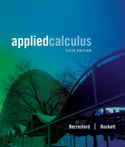 Student Solutions Manual for Berresford/Rockett's Applied Calculus  6th 2013 edition cover