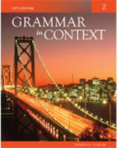 Grammar in Context Book 2  5th 2011 9781424079018 Front Cover
