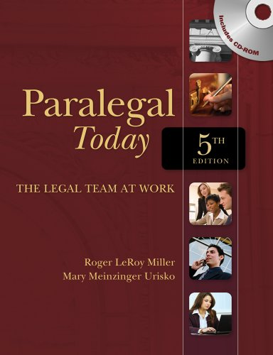 Paralegal Today The Legal Team at Work 5th 2010 edition cover