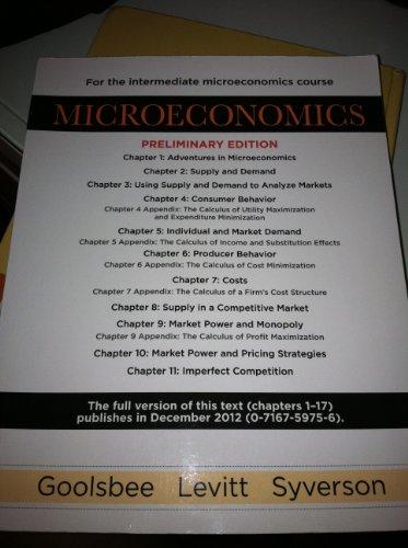 MICROECONOMICS CH.1-11 >PRELIM N/A edition cover