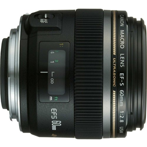 Canon EF-S 60mm f/2.8 Macro USM Lens for Canon SLR Cameras product image