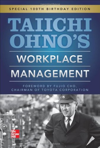 Taiichi Ohnos Workplace Management  100th 2013 edition cover