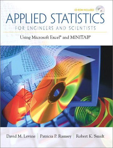 Applied Statistics for Engineers and Scientists Using Microsoft Excel and Minitab  2001 edition cover