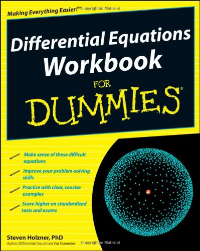 Differential Equations Workbook for Dummies   2009 (Workbook) edition cover