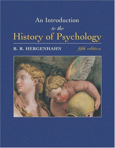 Introduction to the History of Psychology  5th 2005 edition cover