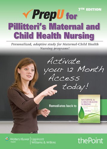 PrepU for Pillitteri's Maternal and Child Health Nursing  7th 2014 edition cover