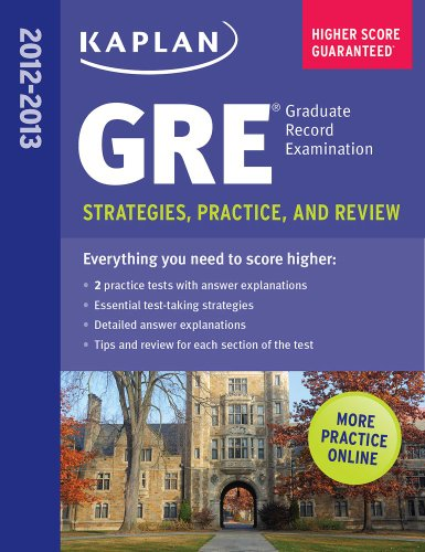 Kaplan GRE 2013 Strategies, Practice, and Review N/A edition cover