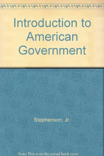 INTRO.TO AMERICAN GOVERNMENT 2nd 2004 edition cover