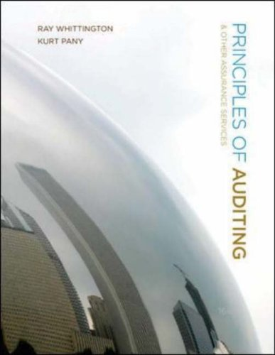 Principles of Auditing and Other Assurance Services  16th 2008 9780077217020 Front Cover